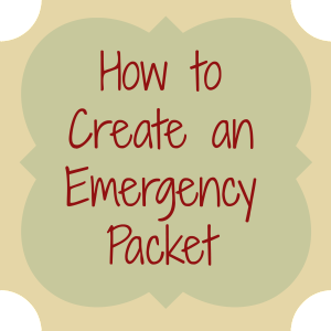 how to create an emergency packet