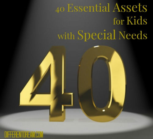 40 developmental assets were researched by the Search Institute. How can they be modified and applied to the development of children with special needs?