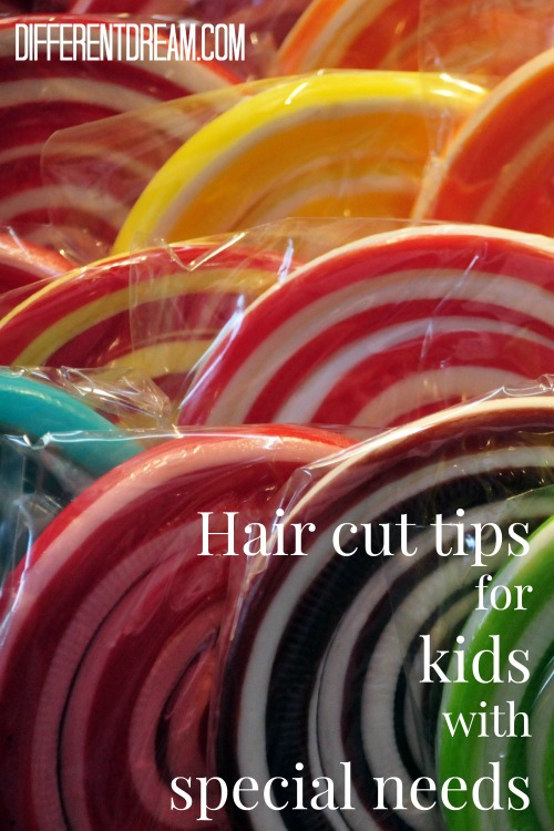 Haircuts can be a challenge for some kids with special needs. Becky Halberg is here with hair cut tips that are ingenious solutions to this hairy problem.