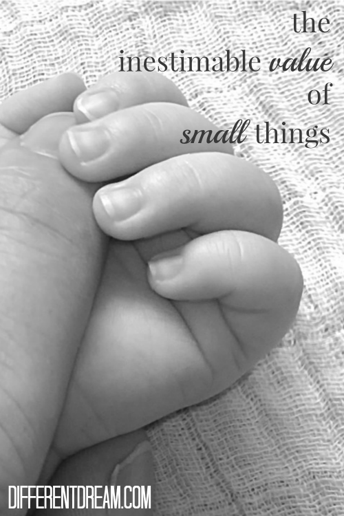Parenting a child with special needs is a big thing, sometimes overwhelming. Big things can keep us from seeing the small things God uses to draw us to him.