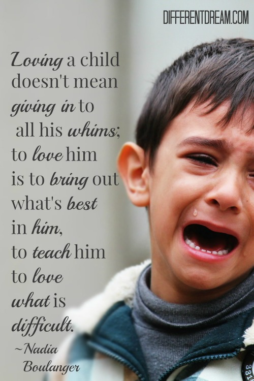 Loving a child doesn't mean giving in to all his whims; to love him is to bring out the best in him, to teach him to love what is difficult. ~ Nadia Boulanger