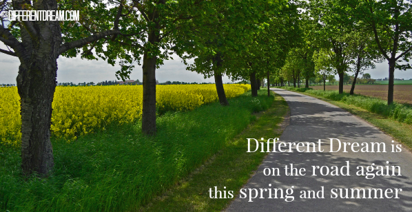 Different Dream is on the road again this spring and summer in Arkansas, Ohio, and Iowa. Check out Jolene's schedule and make arrangements to connect with her!
