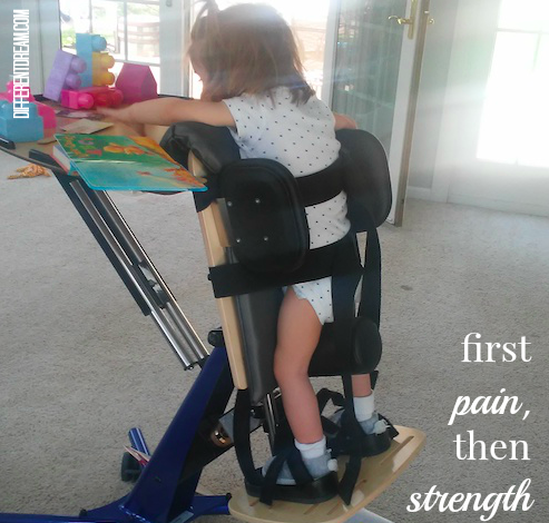 First pain then strength. That's Kimberly Drew's motto as a therapist helps restore strength to her child's legs & hope to the hearts of hurting believers.