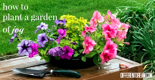 Planting a garden for a friend with cancer seemed a too small, too easy thing for guest blogger Heather Johnson. But the act planted seeds of joy in both their hearts.