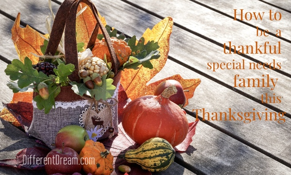 Special needs families can make thanksgiving something to be thankful for by implementing these four ideas before the holiday arrives.