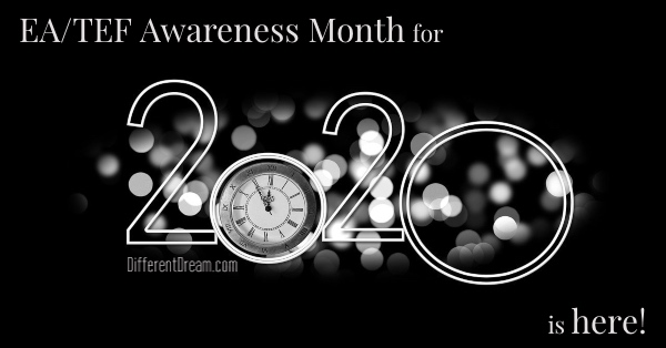 EA/TEF Awareness Month, 2020 is here. This January the blog is featuring posts from EA/TE famiilies. If you don't know what EA/TEF is, start reading now!