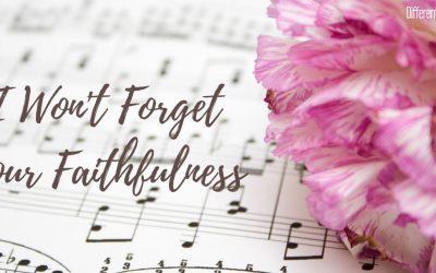 I Won't Forget Your Faithfulness